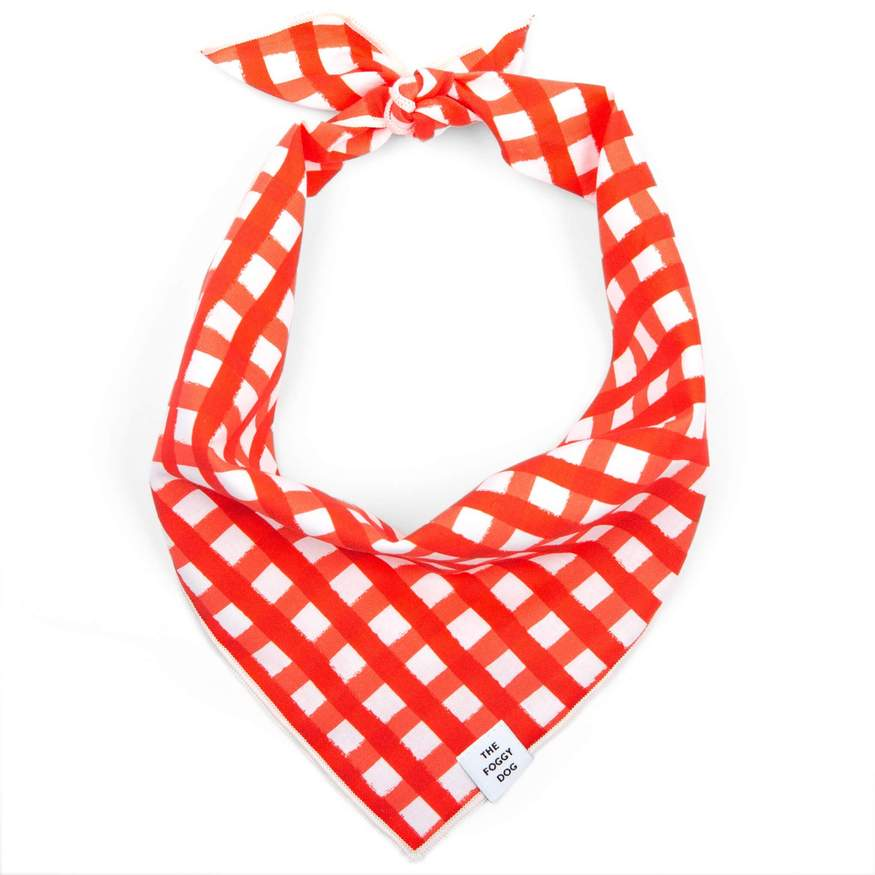 gingham bandana - red