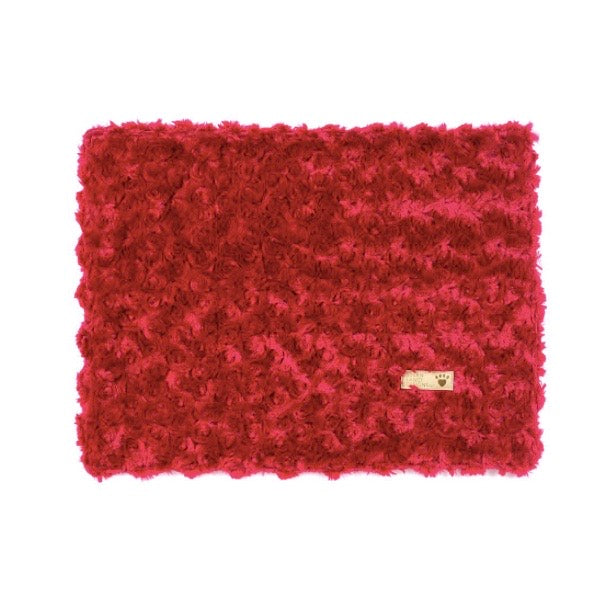 curly sue blanket - red