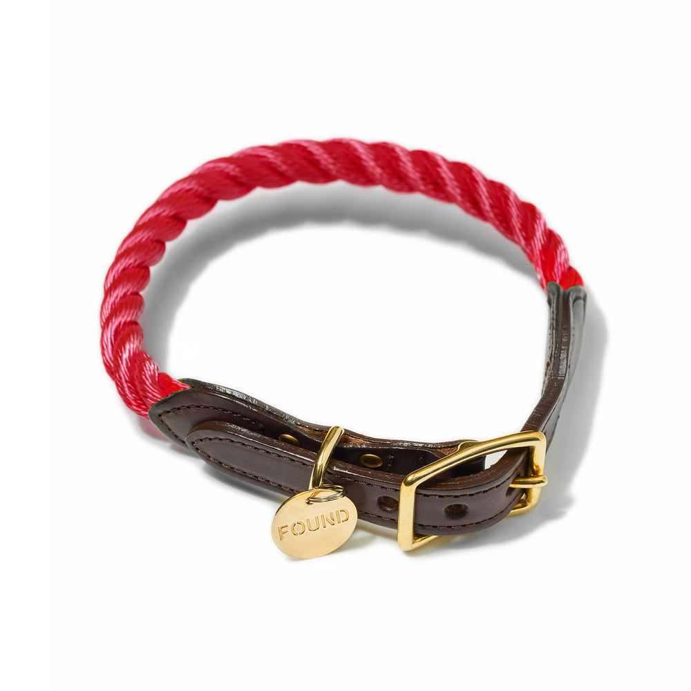 red rope collar - 1 xs left!