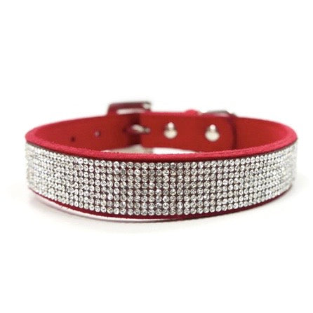 bling collar - pink, red and black