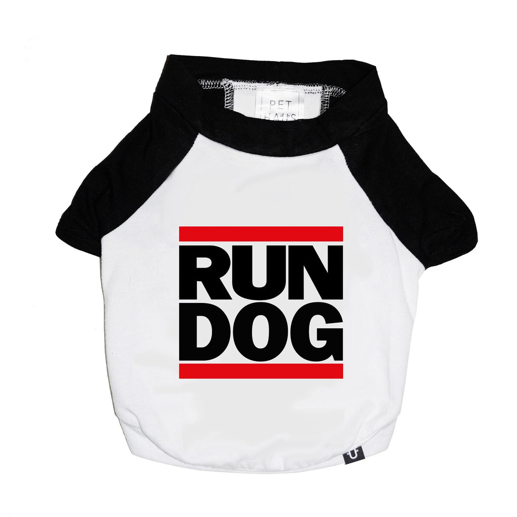 run dog raglan tee