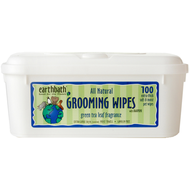 earthbath green tea grooming wipes - 100 wipes