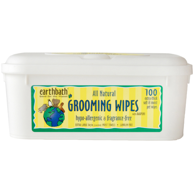 earthbath hypo-allergenic grooming wipes - 100 wipes