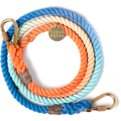 sweet pea ombre adjustable rope leash