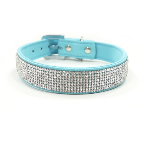 bling collar - blue and purple