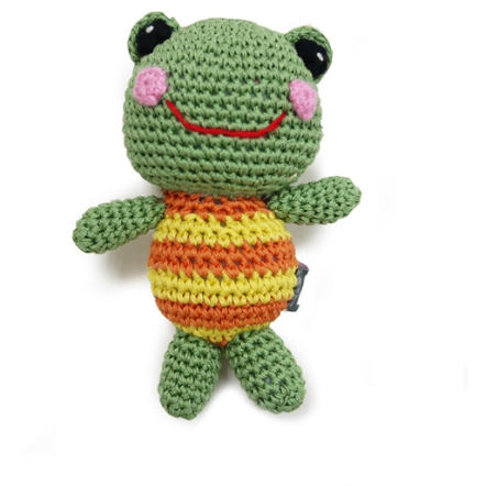 crochet froggy toy