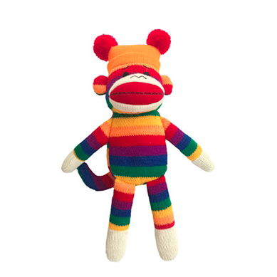 sock monkey plush toy