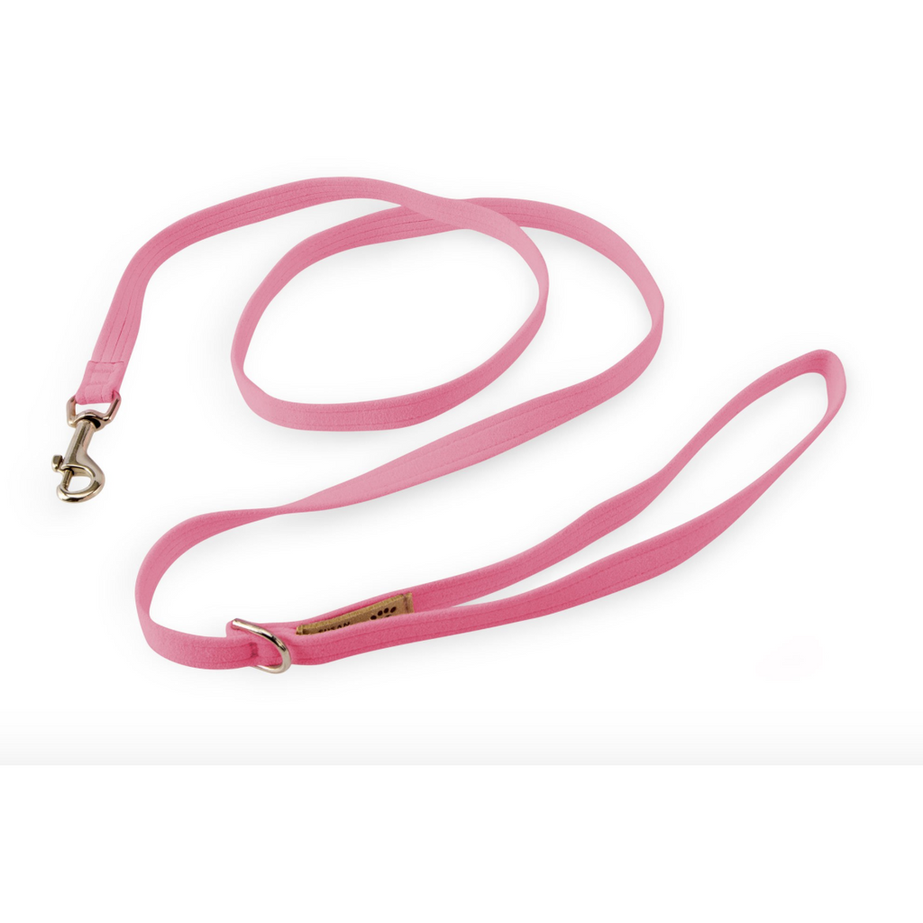 ultra-suede leash - perfect pink