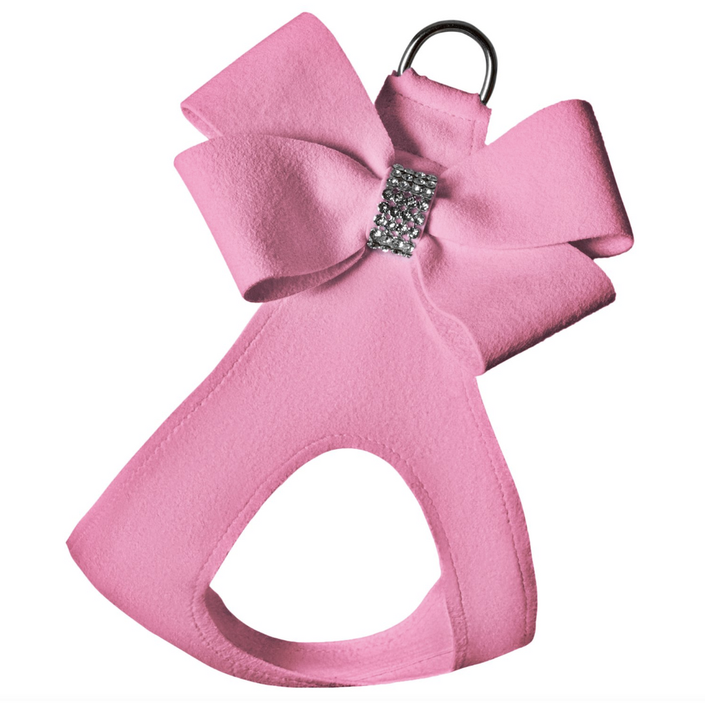 ultra-suede step in bow harness  - more pinks