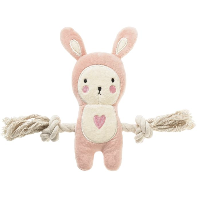 pink bunny rope plush