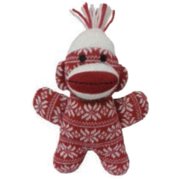 mini christmas sock monkey