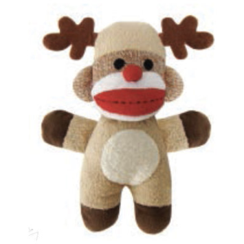 mini reindeer sock monkey