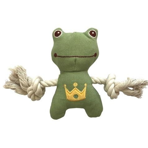 frog natural canvas rope toy