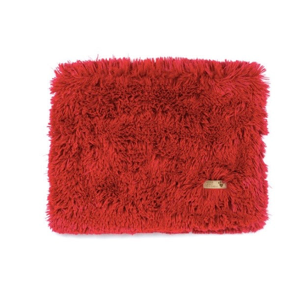 shag blanket - red