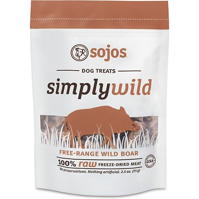 sojos simply wild boar freeze-dried dog treats