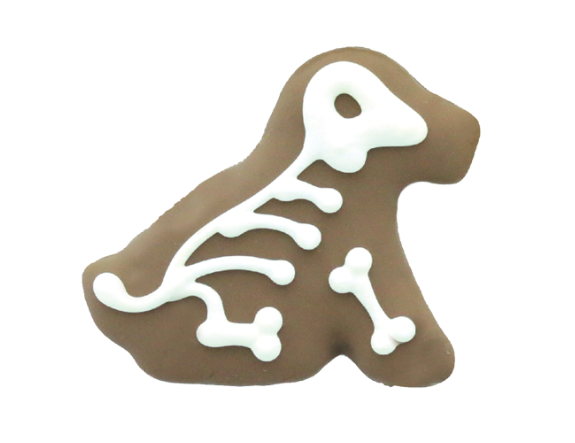 skeleton pup cookie