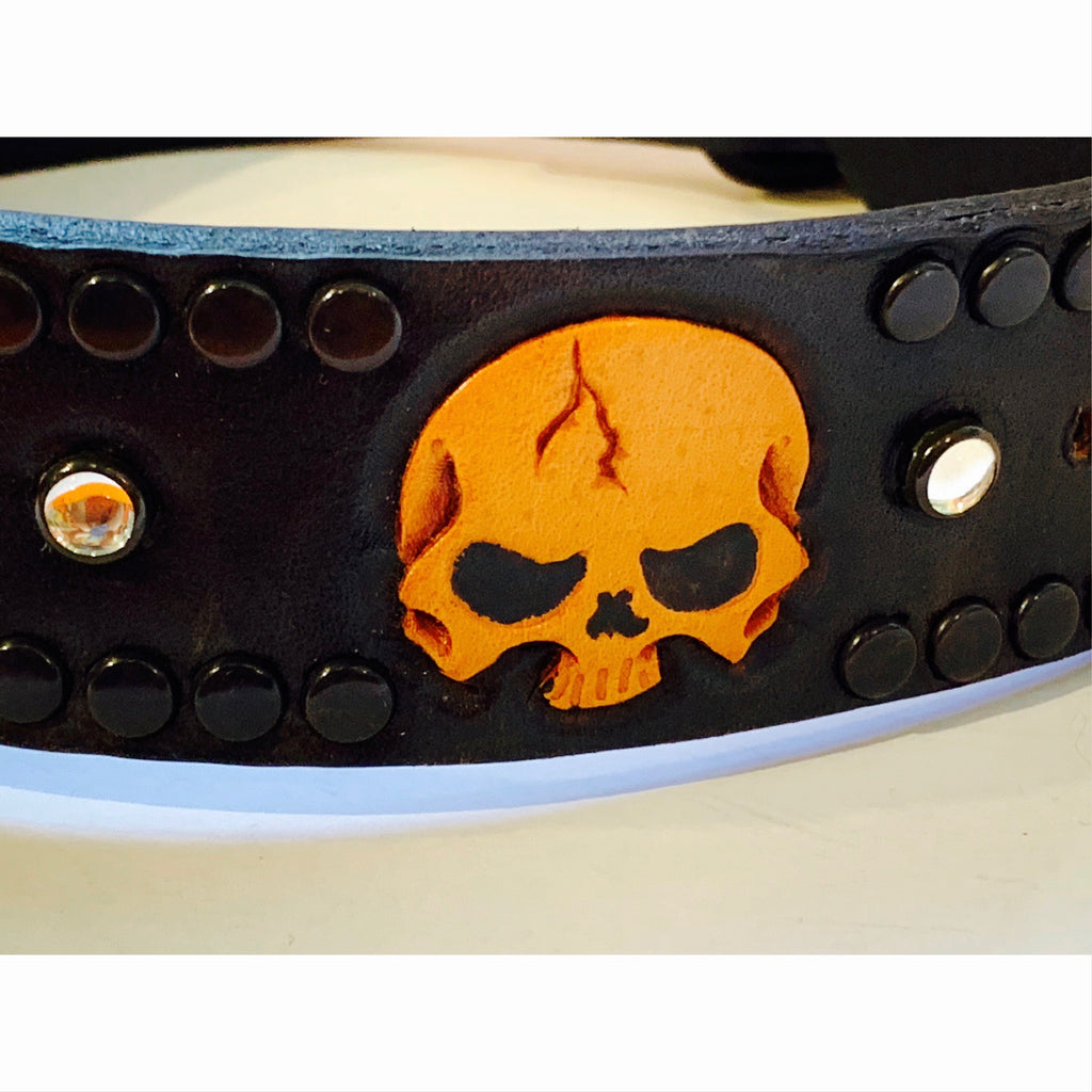 custom skull collar - 1 available