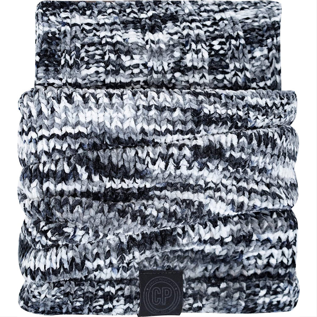 chenille snood - black mix