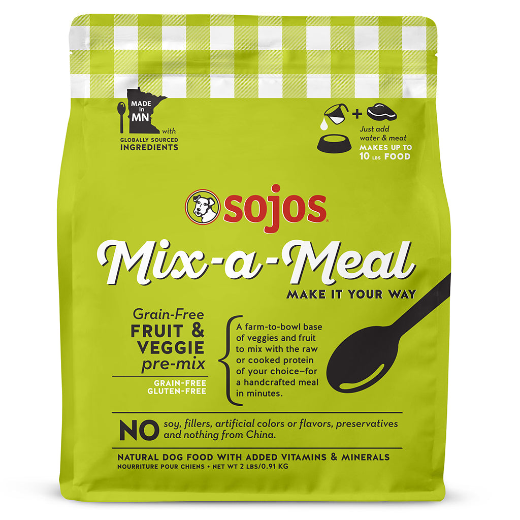 sojos mix-a-meal - fruit & veggies