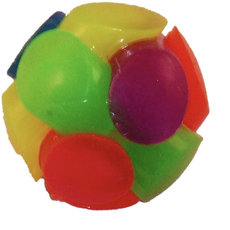 laughing light-up ball - rainbow