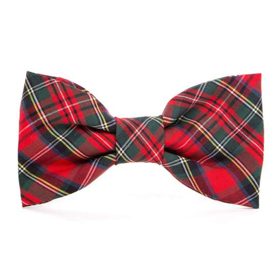 tartan red plaid collar with bow tie - medium left!