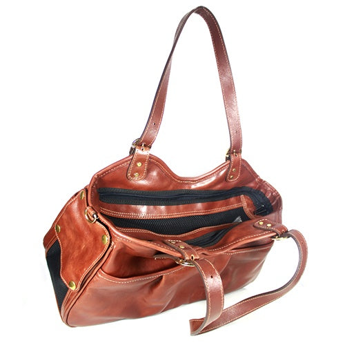 metro couture carrier - toffee with tassel