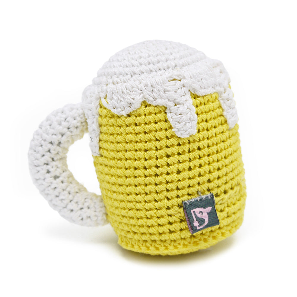 crochet beer mug toy