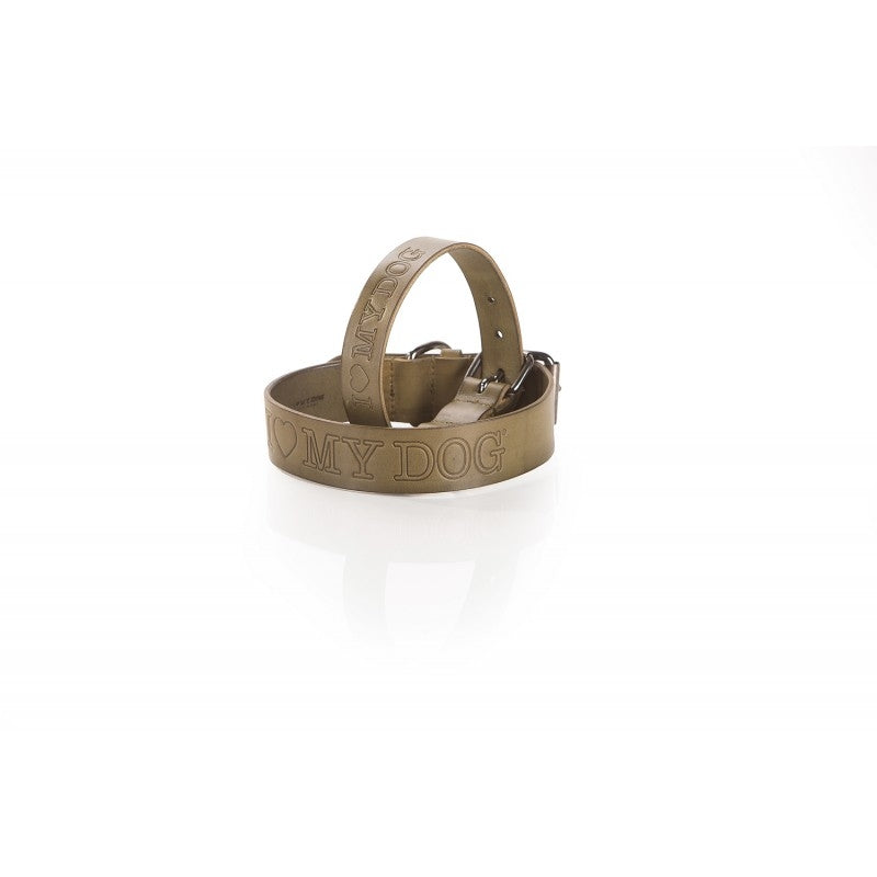 tuscany leather collar - green