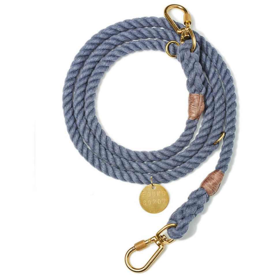 blue jean recycled rope leash