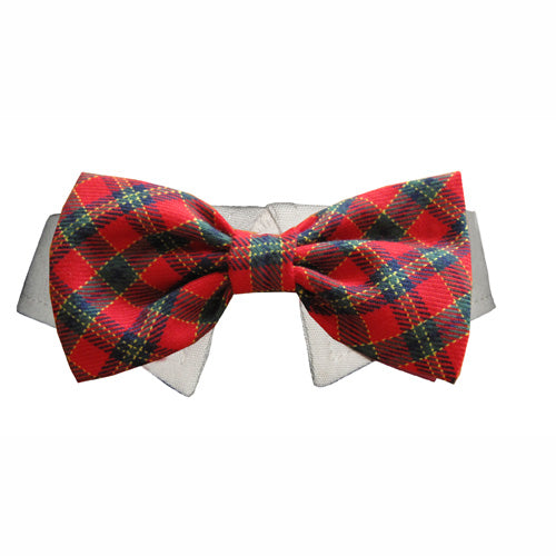Xmas plaid bow tie