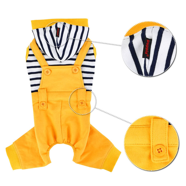 finn yellow overalls - size small left!