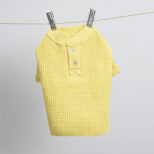 waffle tee - lemon - available in s/m!