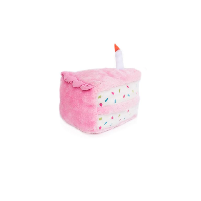slice of cake - available in blue and pink