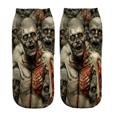 Zombie Invasion Print ankle socks - Dope Sox Official