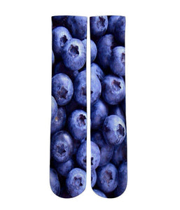 Blue Berry graphic slipper socks - Dope Sox Official