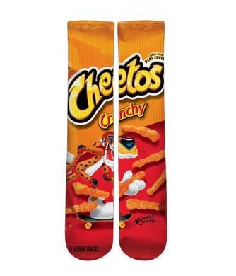 Cheetoh crunchy printed crew socks - Dope Sox Official