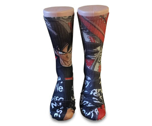 Dragon Ball Z Supreme Mash Up-Custom Elite Crew socks - Dope Sox Official