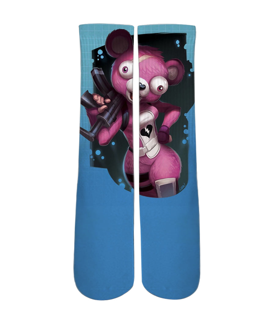 fortnite creepy bear socks