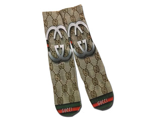 Gucci Double G All over printed crew socks - Dope Sox Official