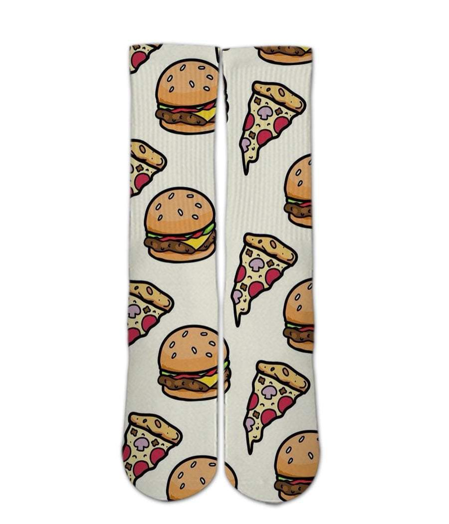 Food Printed Socks-Pizza and burger socks - Dope Sox Official