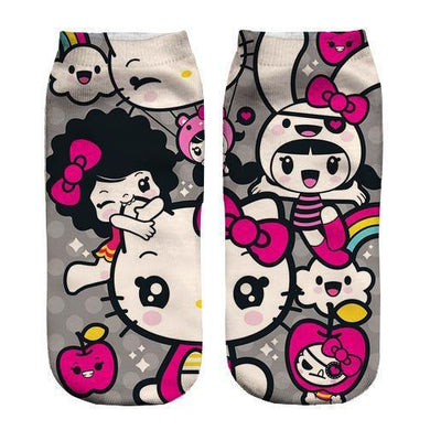 Hello Kitty ankle socks - Dope Sox Official