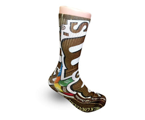 Chocolate M&M's Elite Graphic socks - Dope Sox Official