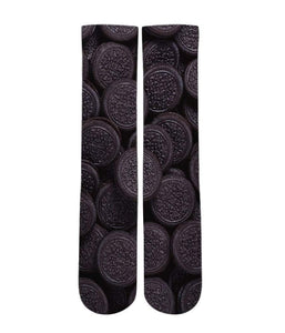 Oreo Cookie pattern all over printed socks - Dope Sox Official