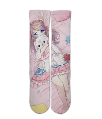 Anime elite printed crew socks - Dope Sox Official