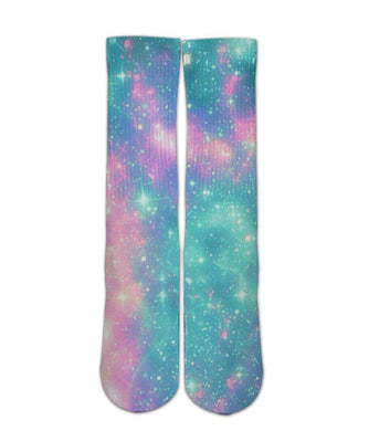 Pink galaxy socks - Elite sublimated crew socks - Dope Sox Official