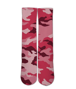 Pink Army Camo pattern 3d printed socks - Dope Sox Official
