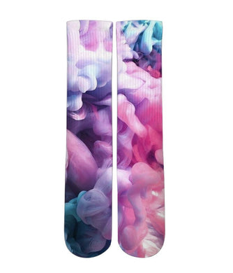 Rainbow Smoke customized elite socks - Dope Sox Official