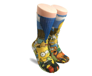 The Simpsons Elite crew all over printed socks - Dope Sox Official