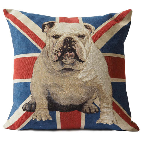 English Bulldog & Union Jack Pillow