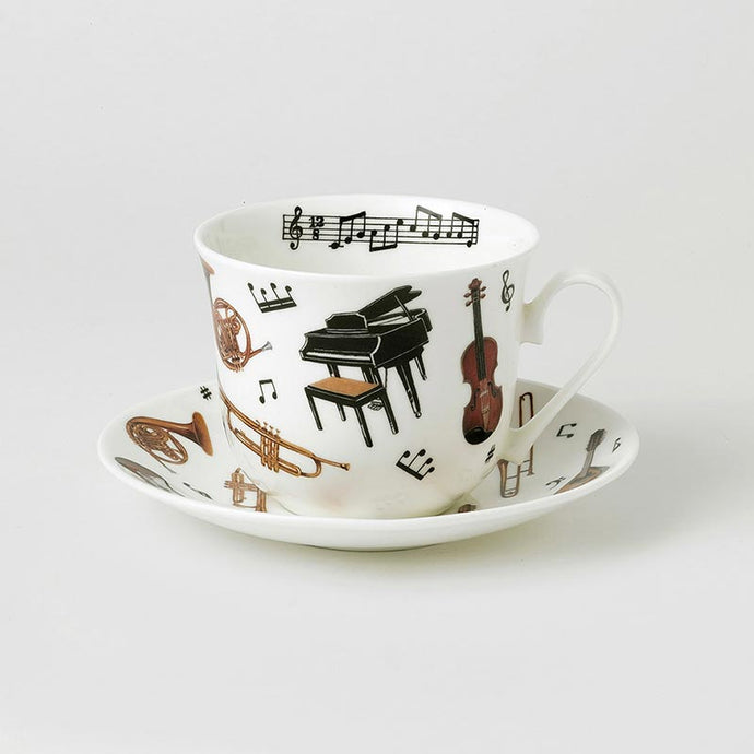 Concert Fine Bone China Large Breakfast Cup and Saucers